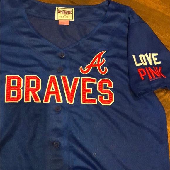 online retailer 18e03 19ed2 PINK VICTORIAS SECRET Atlanta Braves Jersey Love